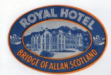 Collectable Hotel luggage label Scotland very old#369